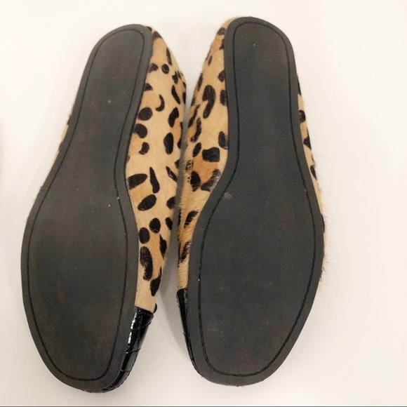 d2470f523d9 Steve Madden 8M Tipie Calf Hair Flats Bow Leopard